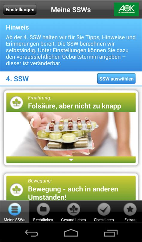 aok schwanger android apps  google play