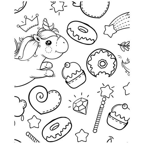 coloriage geant licorne magique  girly