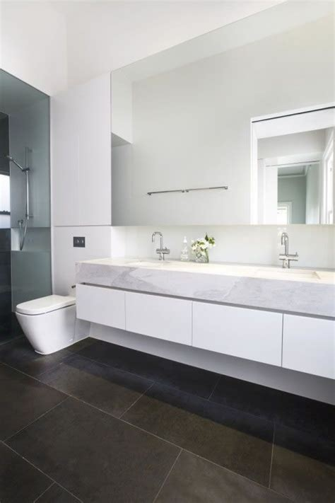 wall mounted counters   modern bathroom