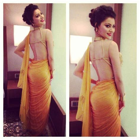 Tight Saree Draping - urvashi rautela 1 indian fashion modern