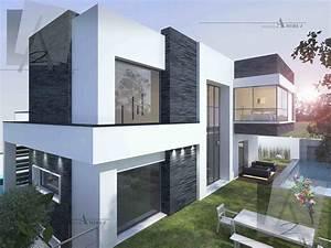 Façade Maison Moderne : villa moderne en tunisie facade maison moderne avec 8 et ~ Melissatoandfro.com Idées de Décoration