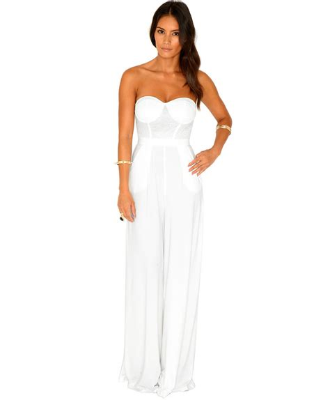 bustier jumpsuit missguided naiara pallazo bustier jumpsuit in in