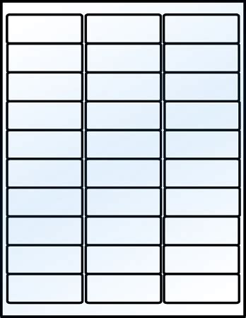 glossy clear laser printable   labels  sheets