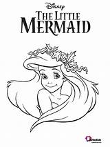 Coloring Pages Mermaid Ariel Bubakids Cartoon Printable Numbers sketch template