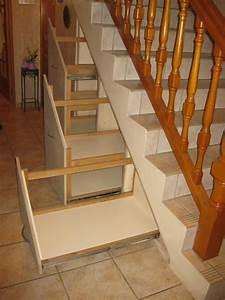 amenagement de tiroirs a chaussures sous escalier With construire un meuble de rangement