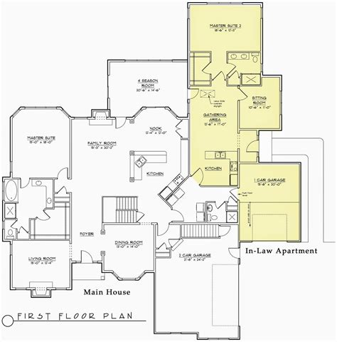 floor plans with inlaw apartment house plans 1960s ranch house floor plans home plans with