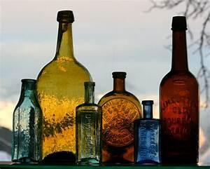 Utah, Antique, Bottle, Cliche, Whittled, Western, Antique, Bottles