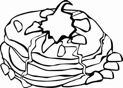 Pancake Coloring Breakfast Pages