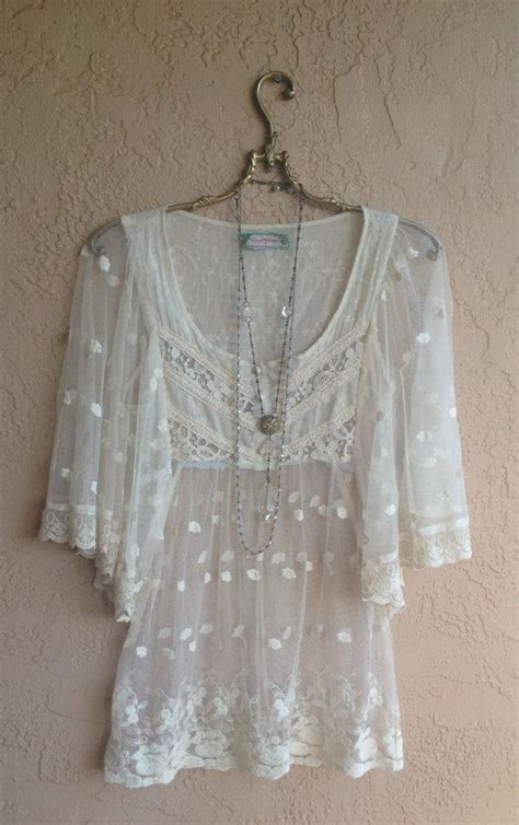 embroidered peasant blouse sheer embroidered lace boho chic peasant blouse with wide