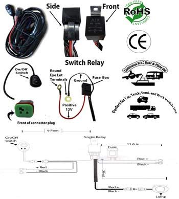 Led Light Bar Work Wiring Kit Single Channel Low