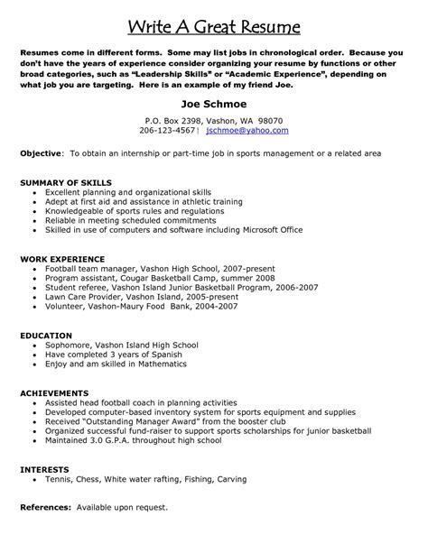 how do you write a resume resume exles 2017
