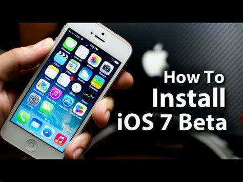 how to put on an iphone how to install ios 7 beta on your iphone 5 4s 4 ipod