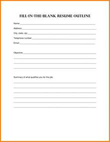Blank Resume Forms by 6 Blank Resume Doc Cashier Resumes