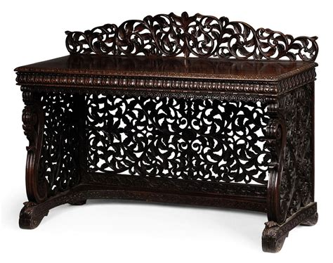 Furniture India by An Anglo Indian Rosewood Serving Table Late 19th Century