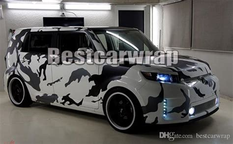 2019 various ubran arctic pixel camo vinyl wrap for car wrap cover with air bubble free