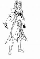 Secura Aayla Star Jedi Wars Deviantart General Lineart Josephb222 Coloring Pages Clone Knight Twi Lek Twilek Favourites sketch template