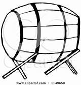 Barrel Clipart Stand Keg Retro Royalty Illustration Wine Prawny Vector Coloring Template Pages sketch template