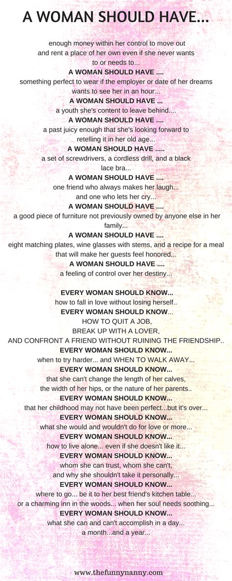 A Poem Every Woman Needs To Read The Funny Nanny