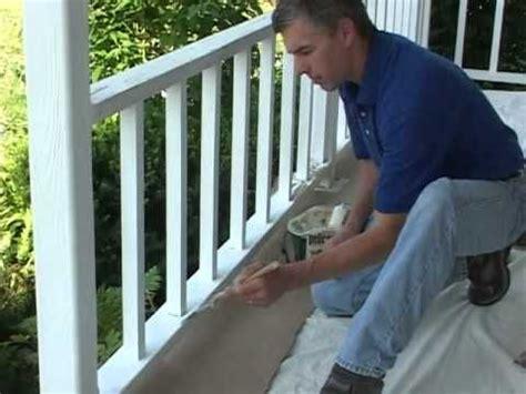 caulk  paint  porch railing youtube video