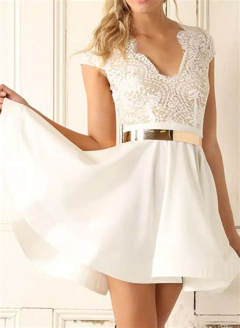 homecoming dress white lace sexy short prom dress