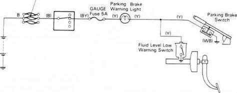Brake Warning Light Switch Diagram by Brake Warning System Circiut Diagram Toyota Land Cruiser