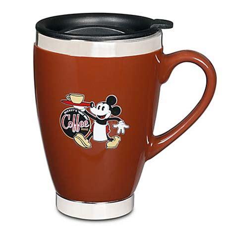 White coffee mug disney mickey mouse travel highwave joe beene. Your WDW Store - Disney Coffee Cup Mug - Mickey's Really Swell Coffee - Brown