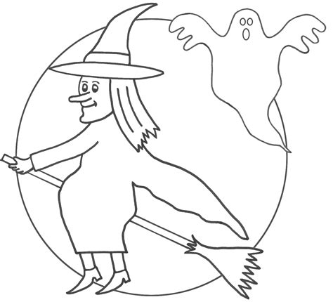 witch template free printable witch coloring pages for