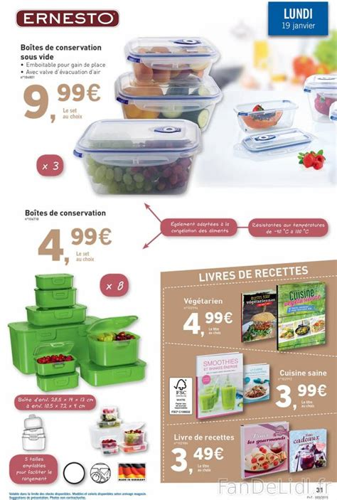 lidl recettes de cuisine boites de conservation et livres de recettes cuisson et