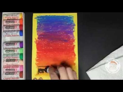 draw  colorful sunset  oil pastels youtube
