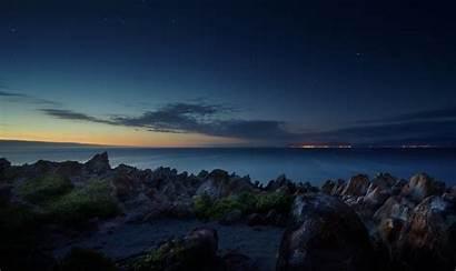 Ocean Beach Night Africa South Stones Wallhere