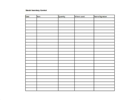 inventory control spreadsheet template inventory spreadsheet template 5 free word excel