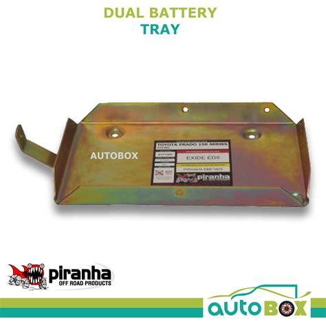 piranha dual battery tray toyota prado 1kd ftv 3 0l td
