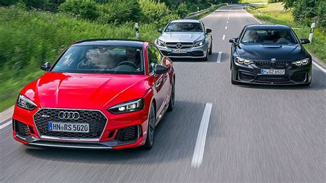 2017 Audi Rs5 Coupe Vs 2017 Bmw M4 Vs 2017 Mercedes Amg