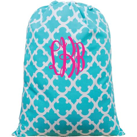 personalized monogrammed laundry bag  themonogrammaker