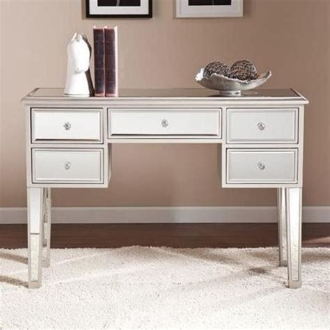 contemporary console table mirrored bedroom desk