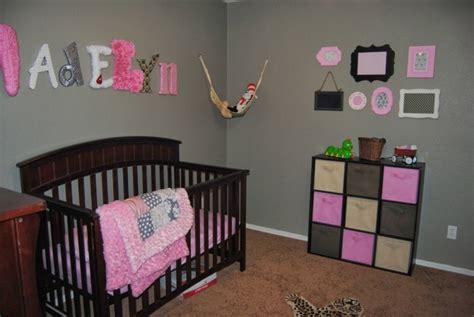 decoration chambre bebe fille gris  rose visuel