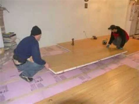 wooden board easy way to insulate your concrete floor sing honeycomb
