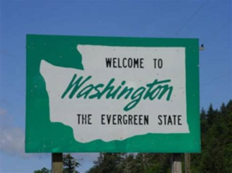 washington state welcome signs idaho sign southeastern line road bookie software trip wa usa evergreen plenty cougars portion bookies go