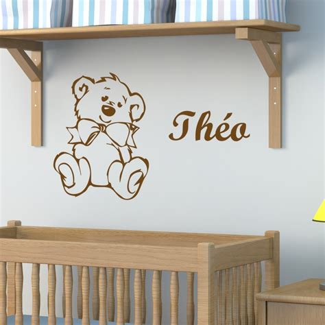 stickers chambre bébé nounours sticker nounours à personnaliser décoration chambre