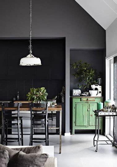 deco vintage cuisine déco cuisine vintage ouverte sur salon moderne gris