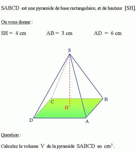 calculer le volume d un aquarium pyramides et cnes de rvolution calculer le volume d une pyramide problme de maths en vido n2