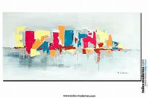 Tableau Peinture Moderne : tableau fuchsia gris d co design grande toile rectangle d coration maison la vie en bord de mer ~ Teatrodelosmanantiales.com Idées de Décoration
