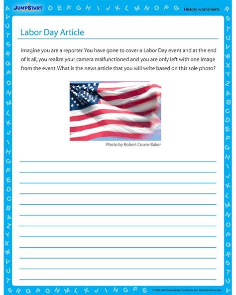 labor day article worksheet history worksheet jumpstart