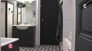 Salle De Bain Noire Et Blanche : d co une salle de bain en noir et blanc ccvb youtube ~ Melissatoandfro.com Idées de Décoration