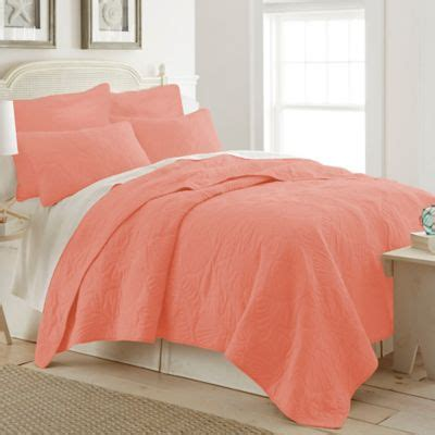 buy coral colored queen bedding from bed bath beyond