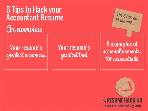 6 Tips To Hack Your Accountant Resume