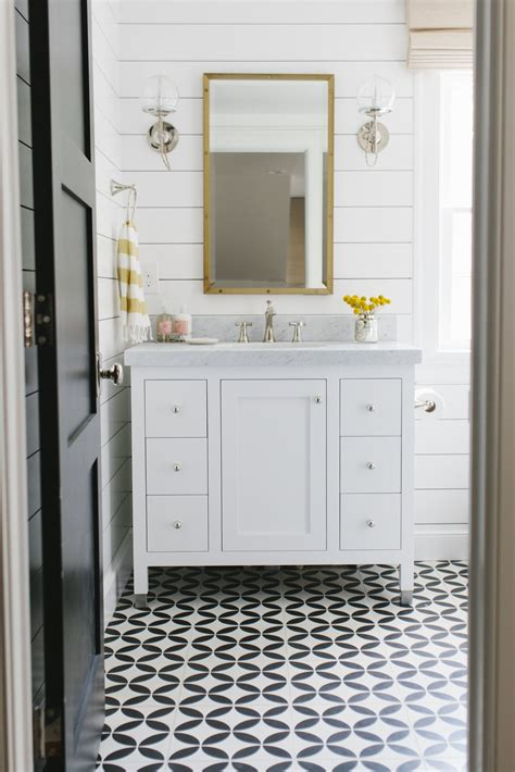 Shiplap For Bathrooms by Cement Tile And Shiplap Bathroom By Studio Mcgee