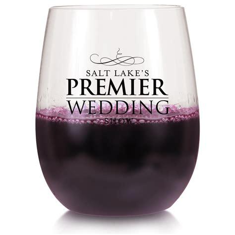 personalized  oz hard plastic stemless wine glasses