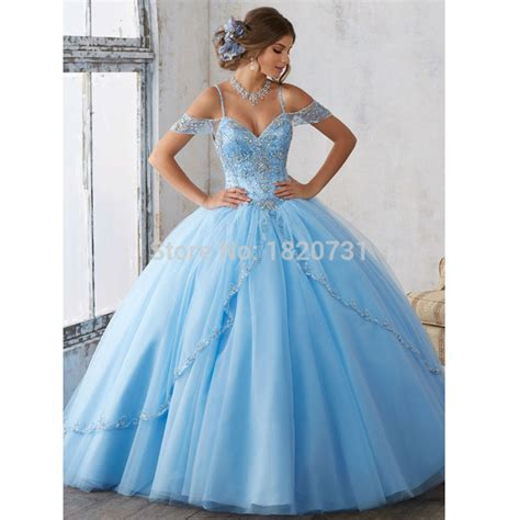 light blue 15 dresses aliexpress com buy luxury beaded lace sweetheart light