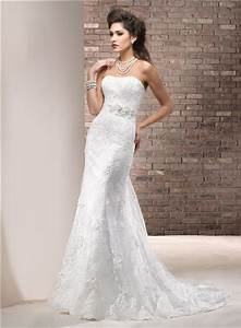 fitted sheath strapless lace wedding dress with swarovski With strapless fitted wedding dresses